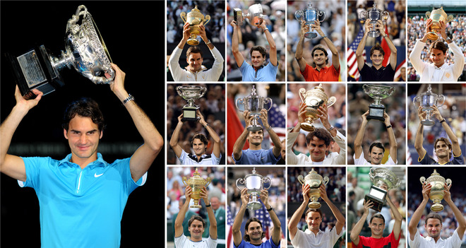 Federer wins Australian Open 2010. Credit: STF/AFP/Getty Images
